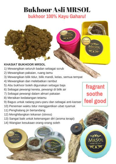 Bukhoor ASLI MRSOL 100% Kayu Gaharu