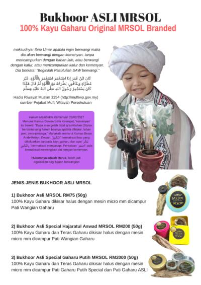 Manfaat Bukhoor Asli MRSOL 100% Kayu Gaharu