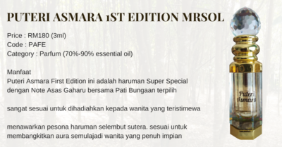 Puteri Asmara First Edition MRSOL
