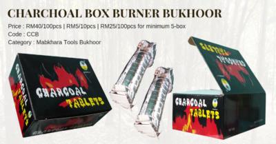 Charchoal Box Burner Bukhoor RM40