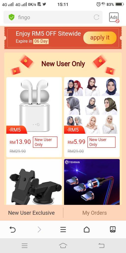 9) pilih barang bernilai RM199 di ruang prefferred product(1)