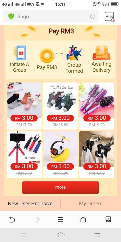 9) pilih barang bernilai RM199 di ruang prefferred product(2)