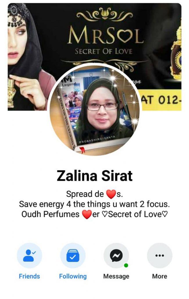 agen utama MRSOL Johor Puan Zalina Sirat