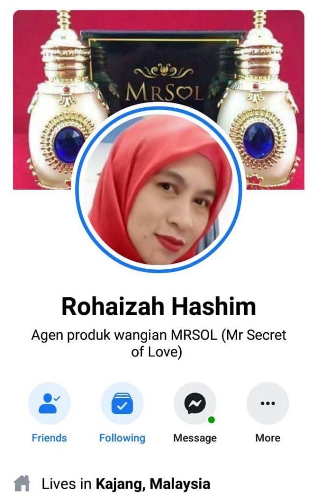 agen utama MRSOL Selangor Puan Rohaizah Hashim
