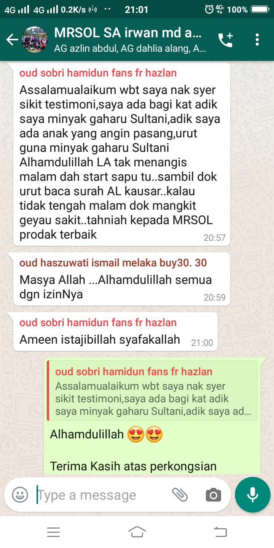 testimoni angin pasang oud sultani MRSOL