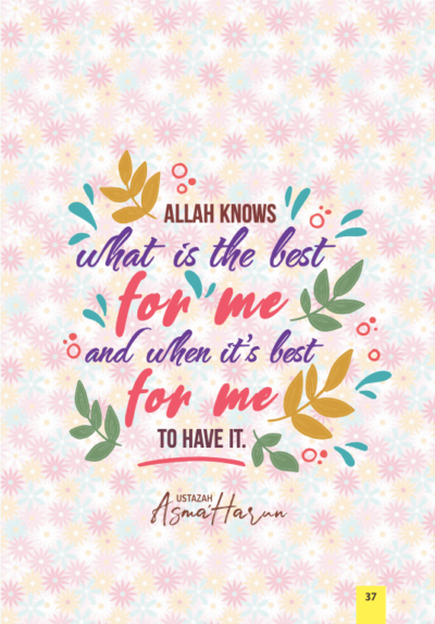 Buku tajuk ALLAH knows what is the best for me