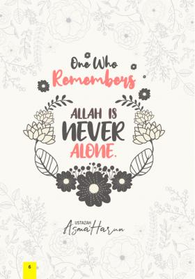 Buku tajuk remember ALLAH is never alone
